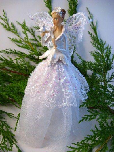 Gisela Graham Serenity Fairy Tree Topper | Christmas ...