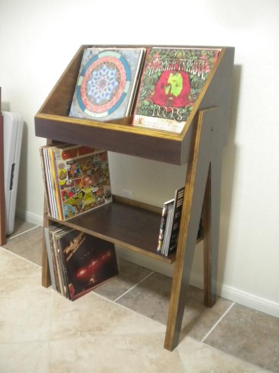 Vinyl Record Storage Stand And Display Holds 400 Lp S Etsy In 2020 Vinyl Record Storage Record Storage Vinyl Record Storage Shelf