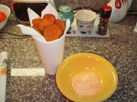 ... : Crispy Baked Sweet Potato Chips with Sriracha Dipping Sauce
