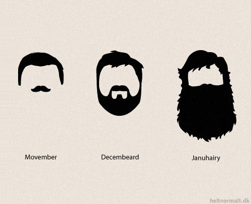 Move over Movember, Decembeard and Januhairy are on the way! [Really? So the guys who think this is cool are basically saying they would rather be celibate than shave? Because that is gross.]