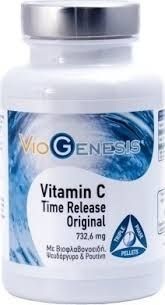 Αποτέλεσμα εικόνας για Viogenesis Vitamin C 732Mg Time Release Original Triple Phase