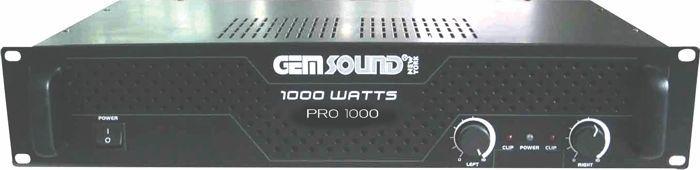 Gem PRO1000 Sound Stereo Power Amp 1000w
