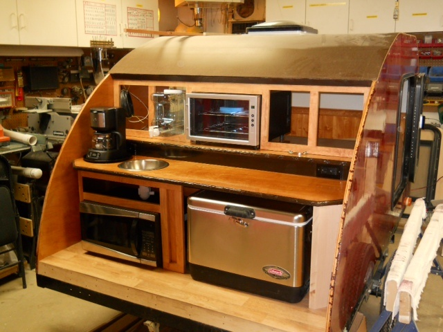 One of our customers using Big Woody Camper plans to build their teardrop camper. Best plans out there....most extensive. 153 pages of pictures, diagrams, and directions. www.bigwoodycampers.com