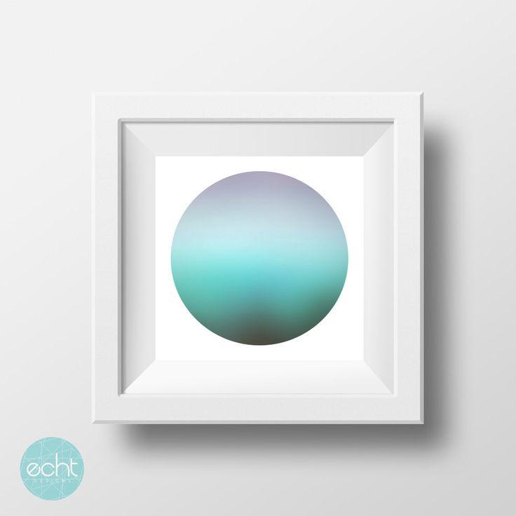 Zen Art - Blue Aqua Ocean Sphere - Wall Art Digital Print by ECHTDESIGNS on Etsy