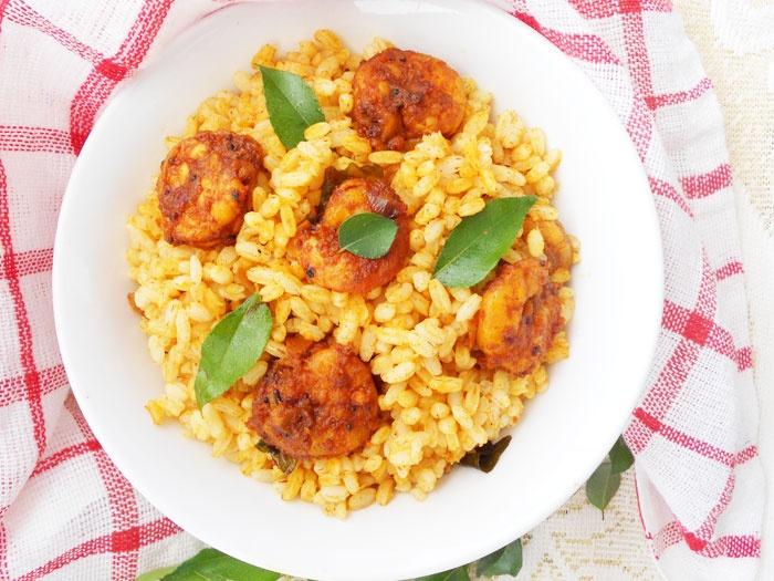 COOKING IS EASY: Shrimp Rice/Chemmeen Chooru....with Kerala matta brown rice.