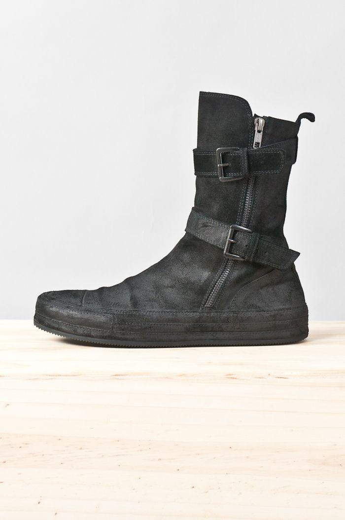 reverse leather vitello sneaker boot — re. porter