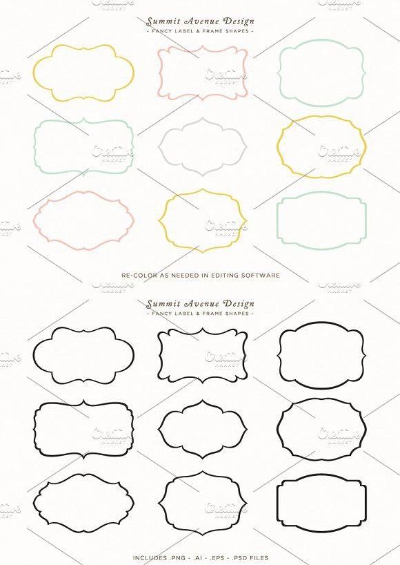 Fancy Frames & Label Shapes #frames #logoelement