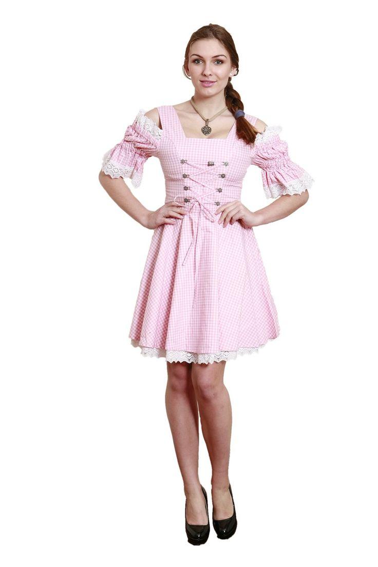 #Dirndl Rosa #Trachtenkleid Landhausmode: kaufen online zum @Dirndloutlet