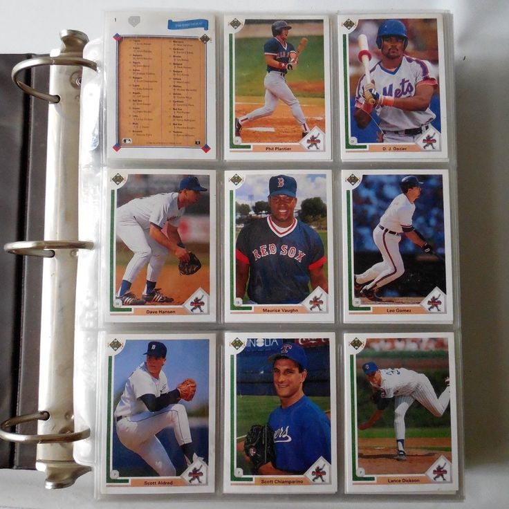 1991 Upper Deck Baseball 800 cards Completed collection Set In Album Nice Deal