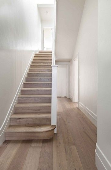 Love the flooring, although I would paint the bottom side of the steps chevron pattern