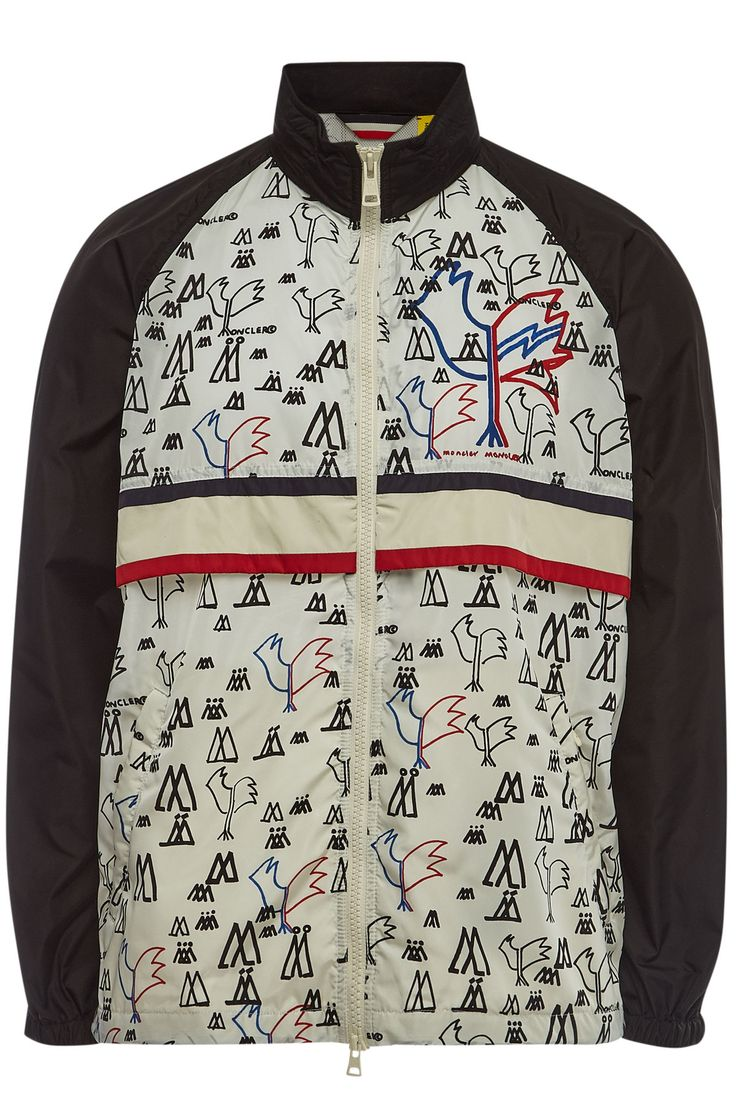 Moncler 2 1952 White And Black Allos Jacket In 58034.wht