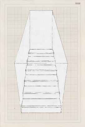 rachel whiteread, Stairs, 6 Steps, Black, 1995