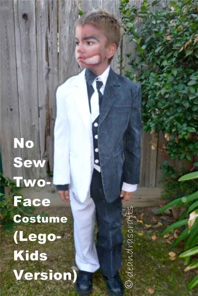 No-Sew Two-Face Costume (Lego Kids Version) #halloween #batman #harvey_dent