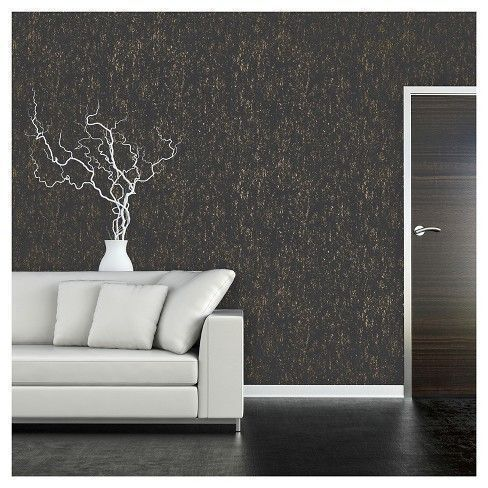 Devine Color Prints and Patterns Metallic Texture Black and Karat in a black and metallic gold colorway is a peel-and-stick, removable wall and surface covering that is easy to apply, reposition, and remove. Simply peel and stick onto recommended surfaces. Devine Color Prints and Patterns are perfect for small projects; add new style to a door, furniture, or accent piece. It is not recommended to apply product to flat paints, textured surfaces, or surfaces in poor condition as product will…