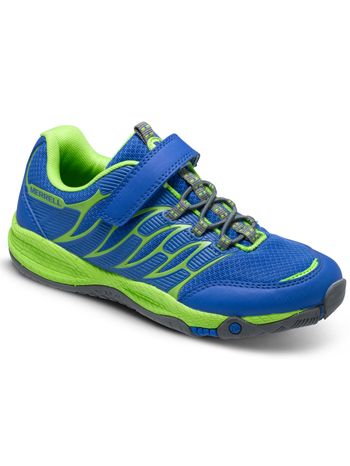 Merrell Allout Fuse Blue/Green available at www.tinysoles.com! #TinySoles