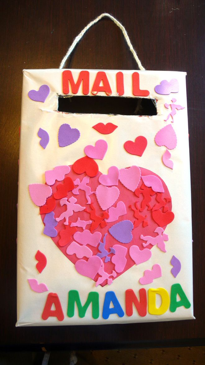 Valentines day mail box a great project for preschoolers - Valentines day boxes for kids ...