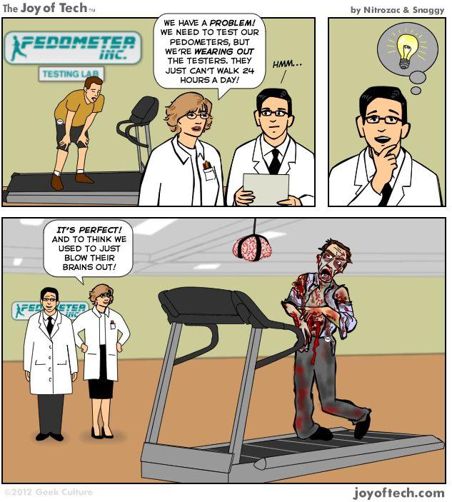 test walker. Via @Nitrozac & @Snaggy http://su.pr/1IPJnf #Humor #Tech #Zombies