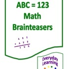 The ABC=123 Brainteasers are math-based logic puzzles called alphametics. They can be used as daily warm-up exercises, challenge problems, extra credit, gifted enrichment, or as a substitute for in-class work for students who have already mastered the current curricular unit. The problems in this booklet are geared for 5th and 6th graders, but can also be used with gifted 4th graders (with proper instructional support).