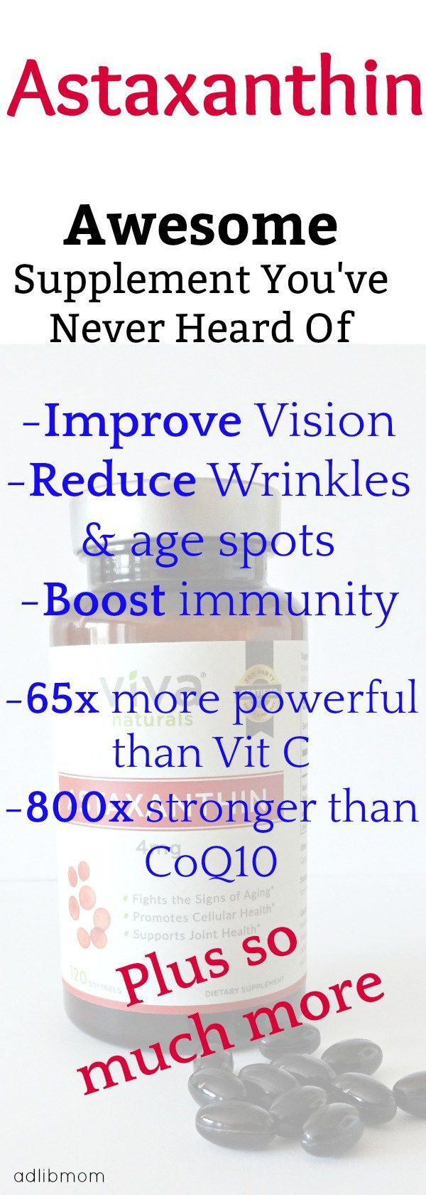 Astaxanthin is one of the most powerful antioxidants found in nature. It may be a supplement that you have never heard of. It has many health benefits Astaxanthin....