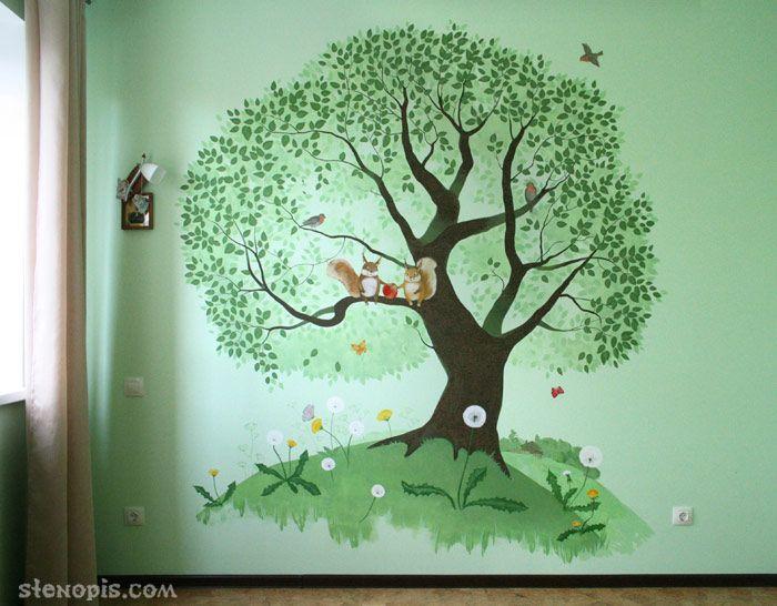 Роспись стены детской комнаты в СПб