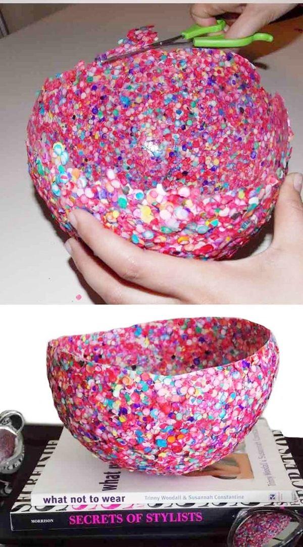 bandeja para snacks de fiesta con confetti 3 Ideas para decorar Fiestas Infantiles, Bandejas de confetti