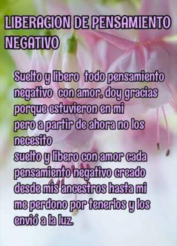 Suelto mis pensamientos negativos!