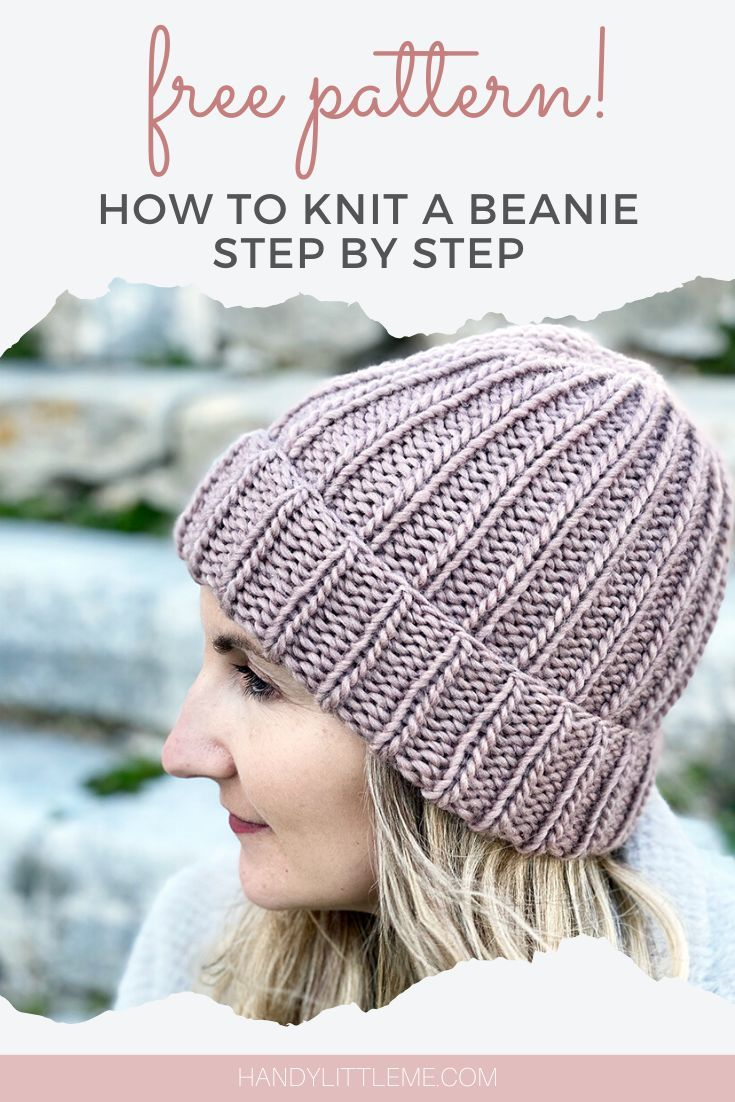How To Knit A Hat With Straight Needles Knitting Patterns Free Hats Knit Beanie Pattern Beanie Knitting Patterns Free