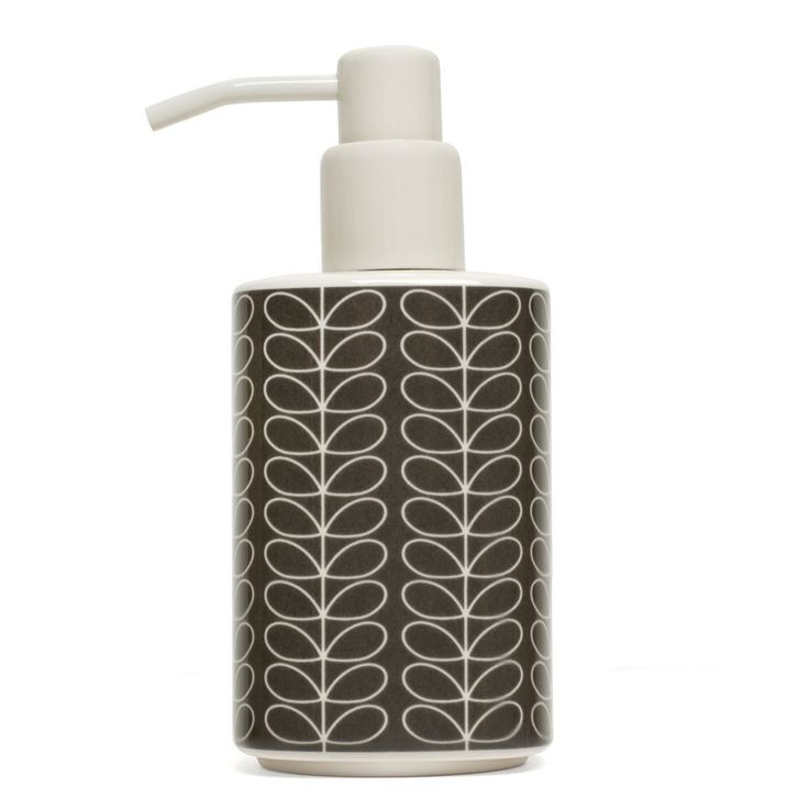Images Photos Orla Kiely Linear Stem Elephant Grey Soap Dispenser gives the bathroom a retro contemporary kick from Amara