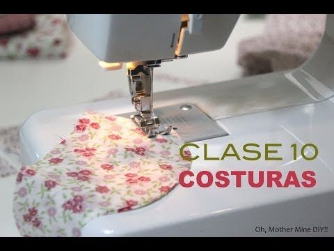 Clase de costura 10. Comenzar a coser a máquina: costura lineal, costura en esquinas y costura en curva. | Manualidades
