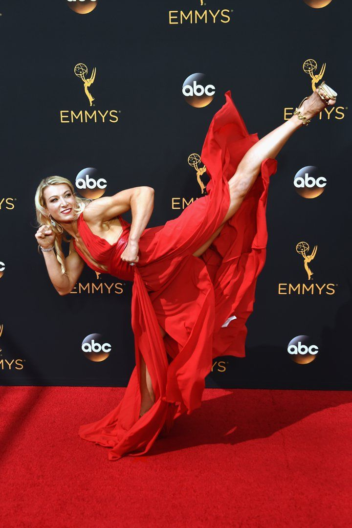 American Ninja Warrior's Jessie Graff High Kicked Her Way Down the Emmys Red Carpet