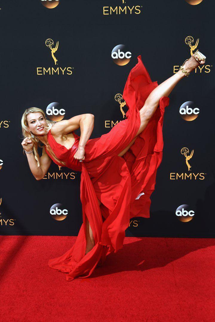 American Ninja Warrior's Jessie Graff High Kicked Her Way Down the Emmys Red Carpet