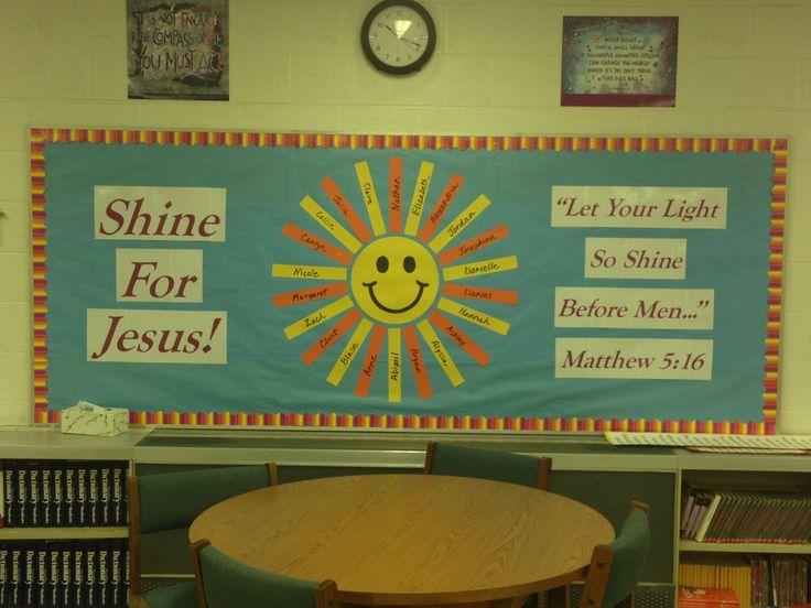 Shine for Jesus Bulletin Board