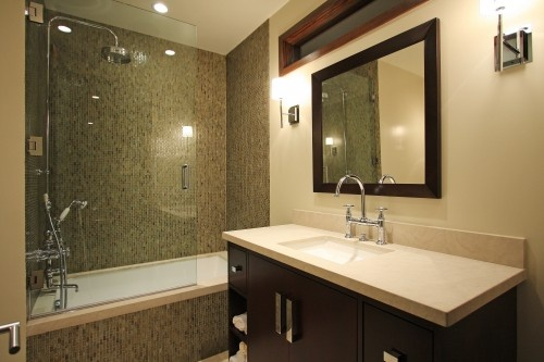 minus the shower (although lovely) here is another great look for the front bathroom.
