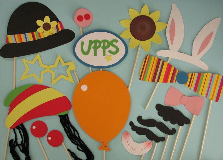 """Photo+Booth+""""Zirkus""""+(Foto+-+Accessoires)+von+Piratenbraut+auf+DaWanda.com"""
