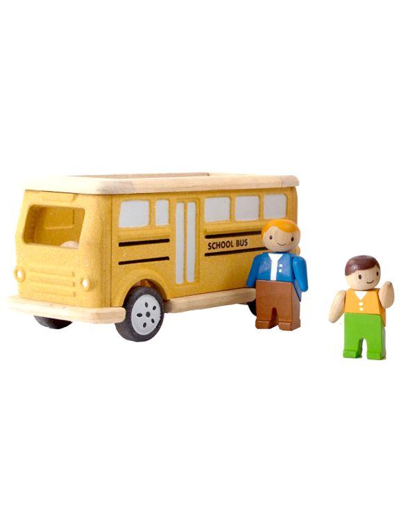 Skolbuss i Trä Plantoys - School Bus