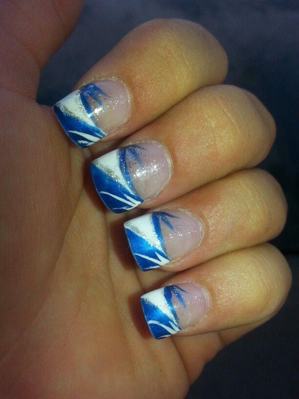 Nail Design Blue And White , Nail Arts