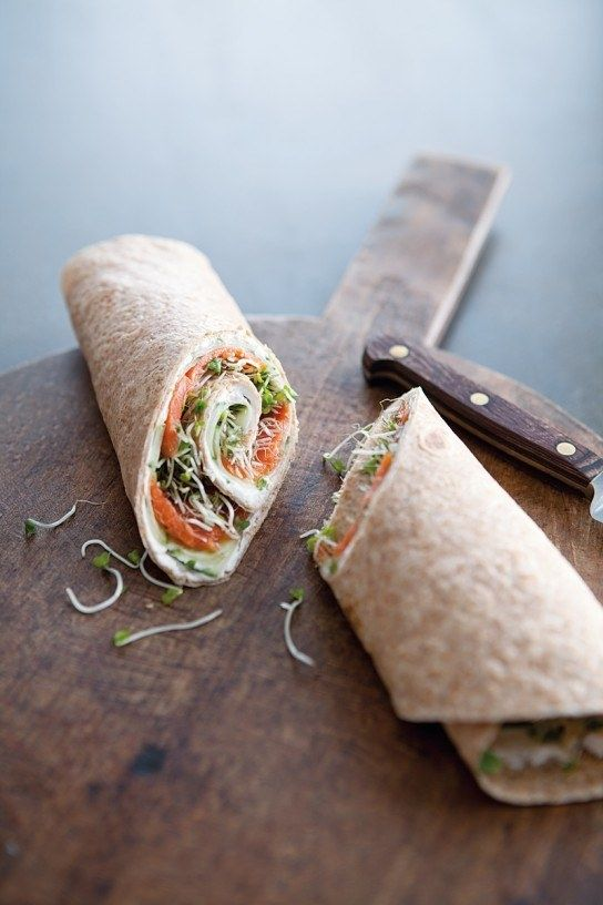 Smoked Salmon and Cucumber Wraps |http://blog.williams-sonoma.com/smoked-salmon-cucumber-wraps/