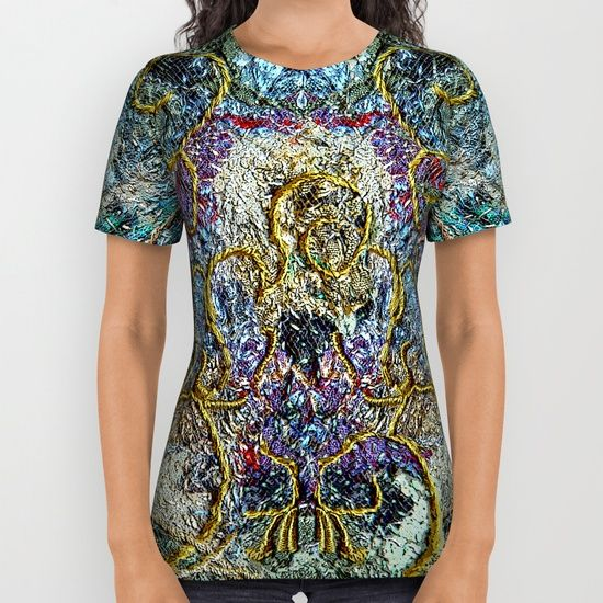 Fantasy in blue and gold All Over Print Shirt