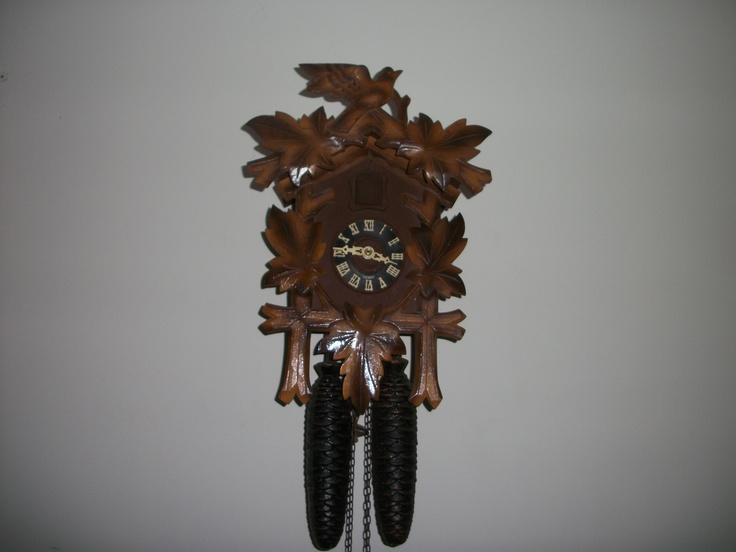 This cuckoo clock belonged to Grandpa Carter and hung in the living room near his recliner and smoke stand.  It is still working order and is proudly displayed in my living room where its rhythmic ticking gives a cozy feel and the cuckoos keep us aware of the time.
