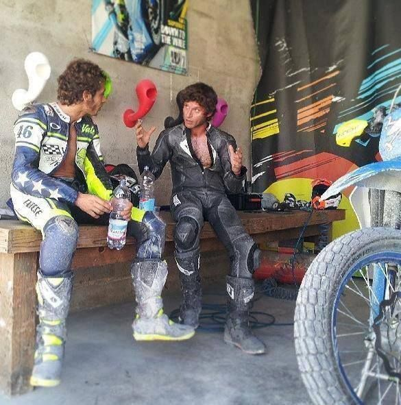 Valentino Rossi and Guy Martin