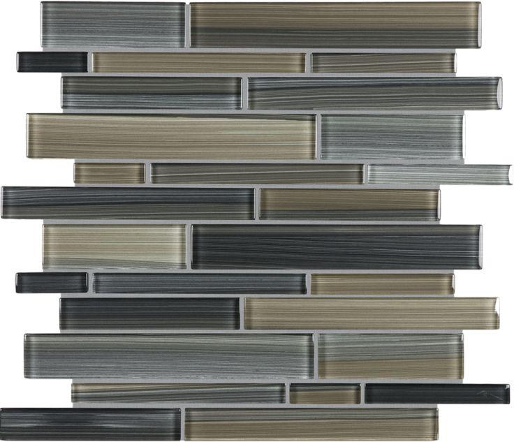 Sassi Tribeca Park Strip Glass Mosaic Home Depot Canada