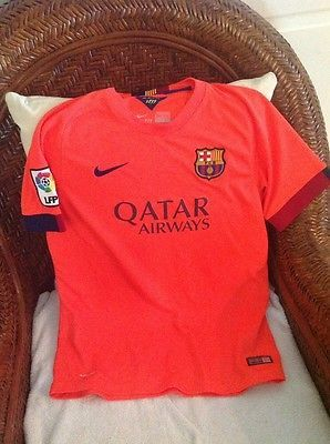 Nike FC Barcelona  la liga Soccer/fútbol Shirt/Jersey  Size XL Youth