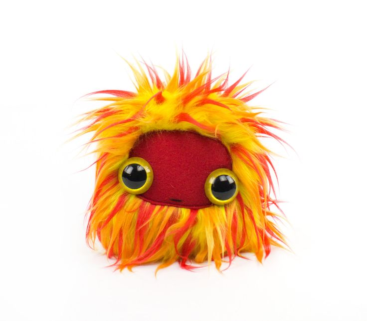 Firey Flameball Nugget Cool Critter Plushie by CoolCritters on Etsy