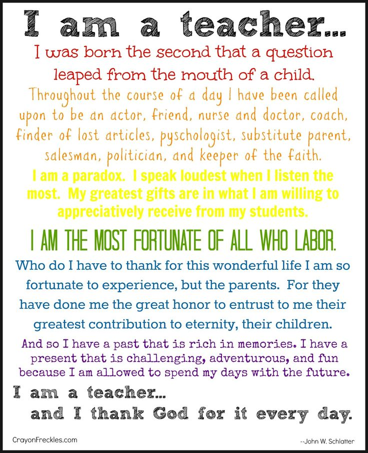 crayonfreckles: I Am a Teacher {free printable}