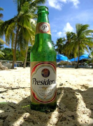 Presidente (Dominican Beer) -- I don't drink beer, but if I did, a frosty Presidente is the only one worth drinking!!