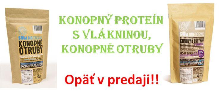 Super ponuka, Konopné otruby a Konopný proteín opäť v predaji na jarnú detoxikáciu. e-shop www.produktyzkonope.sk