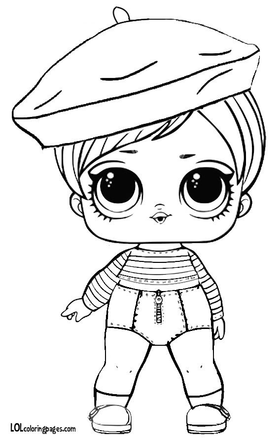 Beatnik Babe Series 3 LOL Surprise Doll Coloring Page