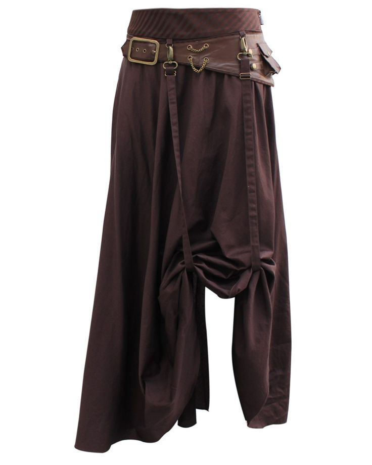 Steampunk Skirt with Leather Effect | Steampunk Clothing