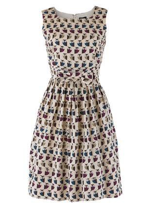 People Tree | Orla Kiely Cream Owl Dress ($100-200) - Svpply