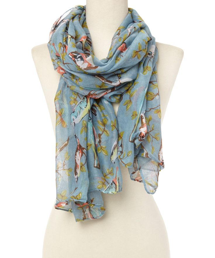 Blue Birds Scarf